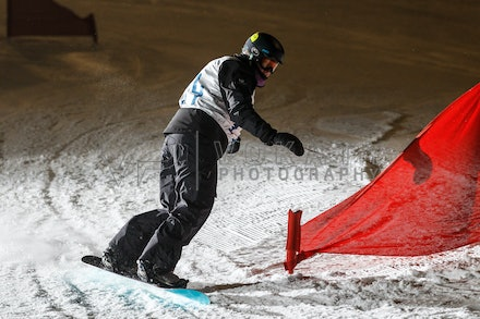 140811_DefenceForce_2998 - Army/Navy/Airforce athletes competing during night dual snowboard race at Perisher, NSW (Australia) on August 11 2014. Photo:...