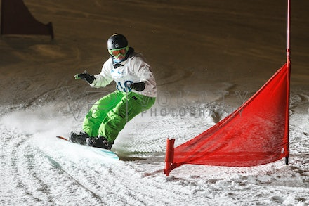 140811_DefenceForce_2999 - Army/Navy/Airforce athletes competing during night dual snowboard race at Perisher, NSW (Australia) on August 11 2014. Photo:...