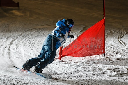 140811_DefenceForce_2997 - Army/Navy/Airforce athletes competing during night dual snowboard race at Perisher, NSW (Australia) on August 11 2014. Photo:...