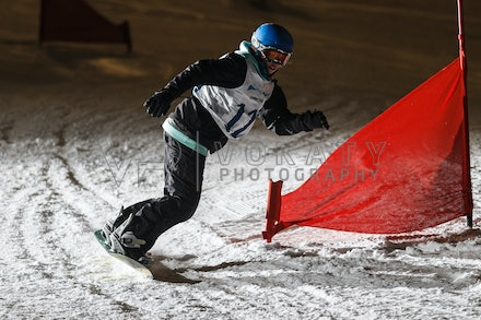 140811_DefenceForce_3002 - Army/Navy/Airforce athletes competing during night dual snowboard race at Perisher, NSW (Australia) on August 11 2014. Photo:...
