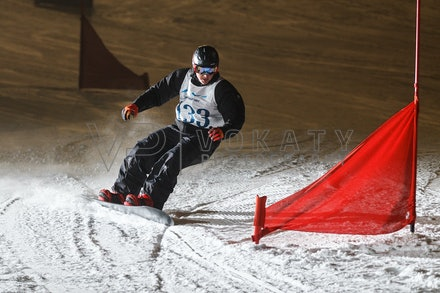 140811_DefenceForce_3003 - Army/Navy/Airforce athletes competing during night dual snowboard race at Perisher, NSW (Australia) on August 11 2014. Photo:...