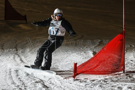 140811_DefenceForce_3000 - Army/Navy/Airforce athletes competing during night dual snowboard race at Perisher, NSW (Australia) on August 11 2014. Photo:...