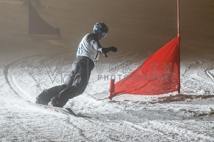 140811_DefenceForce_3005 - Army/Navy/Airforce athletes competing during night dual snowboard race at Perisher, NSW (Australia) on August 11 2014. Photo:...