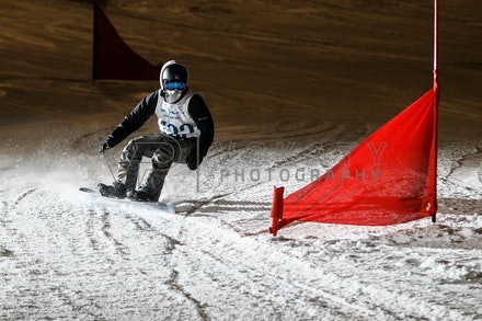 140811_DefenceForce_3004 - Army/Navy/Airforce athletes competing during night dual snowboard race at Perisher, NSW (Australia) on August 11 2014. Photo:...