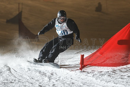 140811_DefenceForce_3006 - Army/Navy/Airforce athletes competing during night dual snowboard race at Perisher, NSW (Australia) on August 11 2014. Photo:...