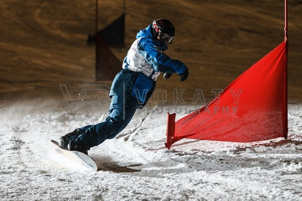 140811_DefenceForce_3008 - Army/Navy/Airforce athletes competing during night dual snowboard race at Perisher, NSW (Australia) on August 11 2014. Photo:...