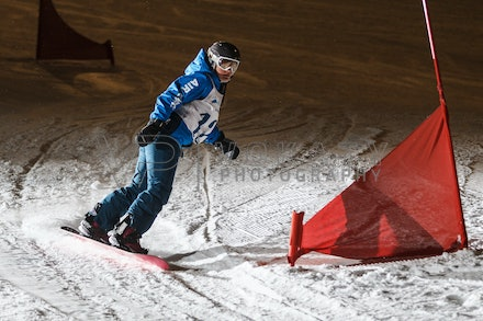 140811_DefenceForce_3016 - Army/Navy/Airforce athletes competing during night dual snowboard race at Perisher, NSW (Australia) on August 11 2014. Photo:...