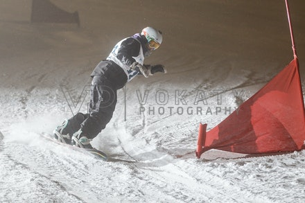 140811_DefenceForce_3018 - Army/Navy/Airforce athletes competing during night dual snowboard race at Perisher, NSW (Australia) on August 11 2014. Photo:...