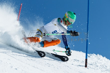 140814_FIS_SL2_4575 - Athlete competing in FIS Slalom race on Hypertrail at Perisher, NSW (Australia) on August 14 2014. Jan Vokaty