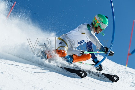 140814_FIS_SL2_4576 - Athlete competing in FIS Slalom race on Hypertrail at Perisher, NSW (Australia) on August 14 2014. Jan Vokaty