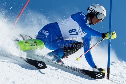 140814_FIS_SL2_4582 - Athlete competing in FIS Slalom race on Hypertrail at Perisher, NSW (Australia) on August 14 2014. Jan Vokaty