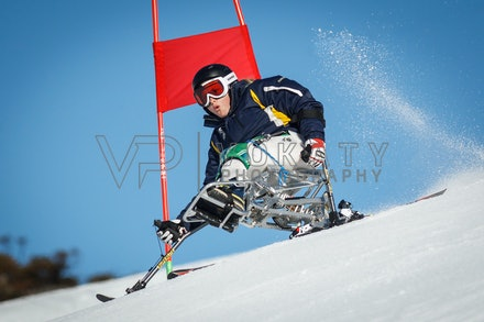 140923_apc_1441 - Australian paralympic ski team athletes training super G during APC speed camp at Perisher, NSW (Australia) on September 23 2014. Photo:...