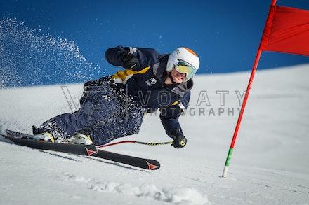 140923_apc_1452 - Australian paralympic ski team athletes training super G during APC speed camp at Perisher, NSW (Australia) on September 23 2014. Photo:...