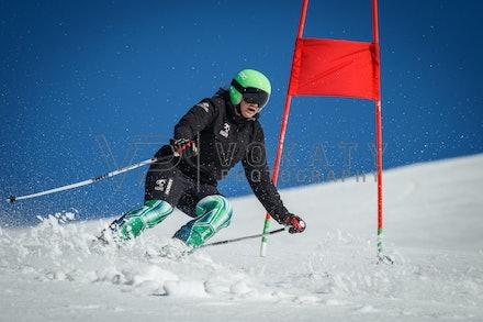 140923_apc_1481 - Australian paralympic ski team athletes training super G during APC speed camp at Perisher, NSW (Australia) on September 23 2014. Photo:...