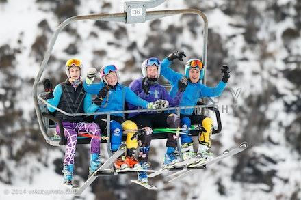 150724_WSCGS_0553 - Perisher Winter Sports Club  athletes training Giant Slalom on Accelerator at Perisher, NSW (Australia) on July 24 2015. Photo: Photo:...