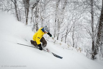 140219_Kamui_8157 - Remi skiing at Kamui Ski Links, Hokkaido (Japan) on February 19 2014. Photo: Jan Vokaty