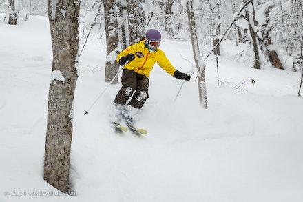 140219_Kamui_8179 - Naoko skiing at Kamui Ski Links, Hokkaido (Japan) on February 19 2014. Photo: Jan Vokaty