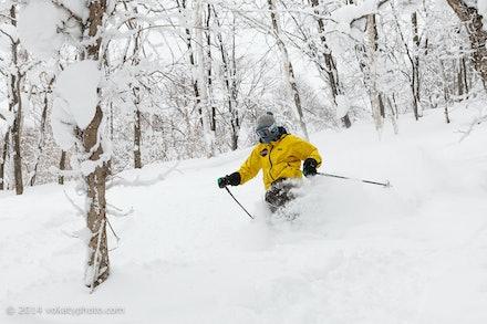 140219_Kamui_8329 - Remi skiing at Kamui Ski Links, Hokkaido (Japan) on February 19 2014. Photo: Jan Vokaty