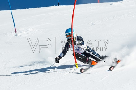 140813_FIS_SL1_3107 - Athlete competing in SSA FIS Slalom race on Hypertrail at Perisher, NSW (Australia) on August 13 2014. Jan Vokaty