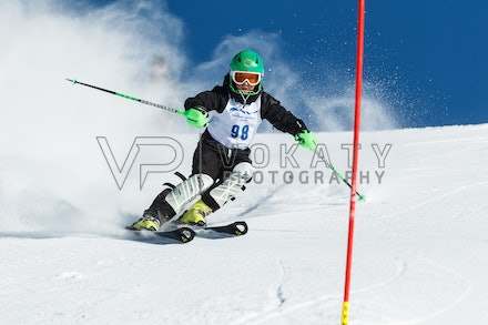 140813_FIS_SL1_3109 - Athlete competing in SSA FIS Slalom race on Hypertrail at Perisher, NSW (Australia) on August 13 2014. Jan Vokaty