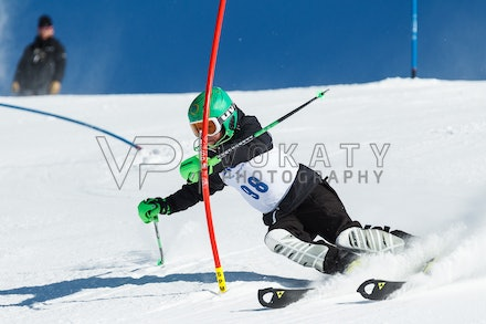 140813_FIS_SL1_3113 - Athlete competing in SSA FIS Slalom race on Hypertrail at Perisher, NSW (Australia) on August 13 2014. Jan Vokaty
