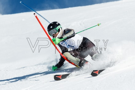 140813_FIS_SL1_3121 - Athlete competing in SSA FIS Slalom race on Hypertrail at Perisher, NSW (Australia) on August 13 2014. Jan Vokaty
