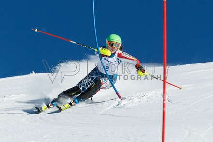 140813_FIS_SL1_3127 - Athlete competing in SSA FIS Slalom race on Hypertrail at Perisher, NSW (Australia) on August 13 2014. Jan Vokaty
