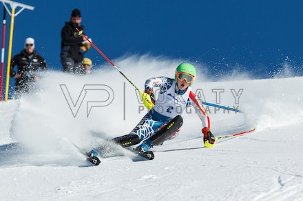 140813_FIS_SL1_3130 - Athlete competing in SSA FIS Slalom race on Hypertrail at Perisher, NSW (Australia) on August 13 2014. Jan Vokaty