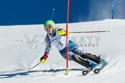 140813_FIS_SL1_3133 - Athlete competing in SSA FIS Slalom race on Hypertrail at Perisher, NSW (Australia) on August 13 2014. Jan Vokaty