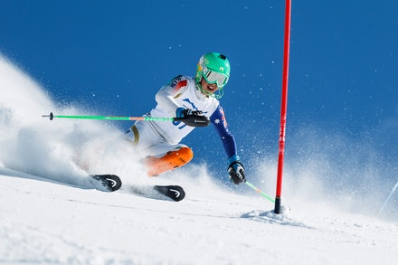 140813_FIS_SL1_3430 - Athlete competing in SSA FIS Slalom race on Hypertrail at Perisher, NSW (Australia) on August 13 2014. Jan Vokaty