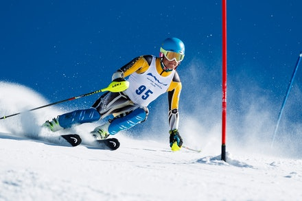 140813_FIS_SL1_3443 - Athlete competing in SSA FIS Slalom race on Hypertrail at Perisher, NSW (Australia) on August 13 2014. Jan Vokaty
