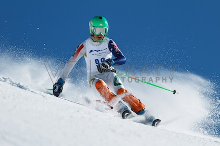 140814_FIS_SL2_4570 - Athlete competing in FIS Slalom race on Hypertrail at Perisher, NSW (Australia) on August 14 2014. Jan Vokaty