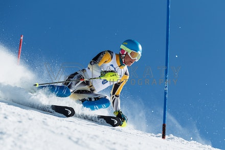 140814_FIS_SL2_4586 - Athlete competing in FIS Slalom race on Hypertrail at Perisher, NSW (Australia) on August 14 2014. Jan Vokaty