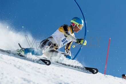 140814_FIS_SL2_4587 - Athlete competing in FIS Slalom race on Hypertrail at Perisher, NSW (Australia) on August 14 2014. Jan Vokaty