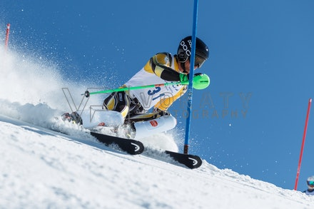 140814_FIS_SL2_4591 - Athlete competing in FIS Slalom race on Hypertrail at Perisher, NSW (Australia) on August 14 2014. Jan Vokaty