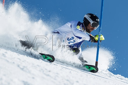 140814_FIS_SL2_4596 - Athlete competing in FIS Slalom race on Hypertrail at Perisher, NSW (Australia) on August 14 2014. Jan Vokaty