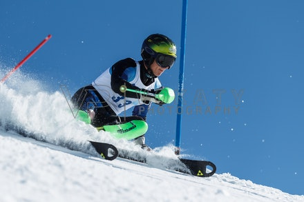 140814_FIS_SL2_4602 - Athlete competing in FIS Slalom race on Hypertrail at Perisher, NSW (Australia) on August 14 2014. Jan Vokaty