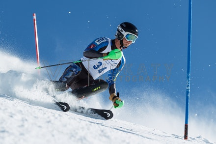 140814_FIS_SL2_4605 - Athlete competing in FIS Slalom race on Hypertrail at Perisher, NSW (Australia) on August 14 2014. Jan Vokaty