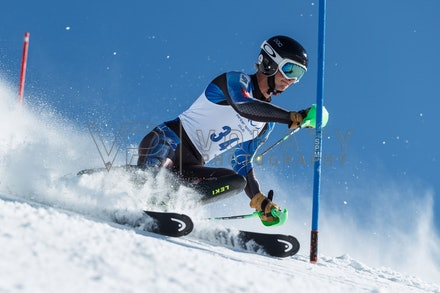 140814_FIS_SL2_4606 - Athlete competing in FIS Slalom race on Hypertrail at Perisher, NSW (Australia) on August 14 2014. Jan Vokaty