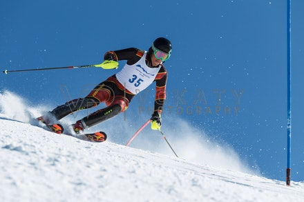 140814_FIS_SL2_4609 - Athlete competing in FIS Slalom race on Hypertrail at Perisher, NSW (Australia) on August 14 2014. Jan Vokaty
