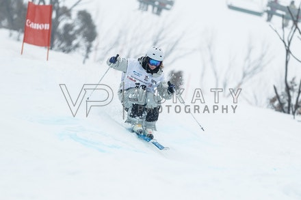 140819_Moguls_5773 - Athlete competing during day 1 of the Canon Australian Freestyle Mogul Championships at Perisher, NSW (Australia) on August 19 2014....