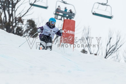 140819_Moguls_5814 - Athlete competing during day 1 of the Canon Australian Freestyle Mogul Championships at Perisher, NSW (Australia) on August 19 2014....
