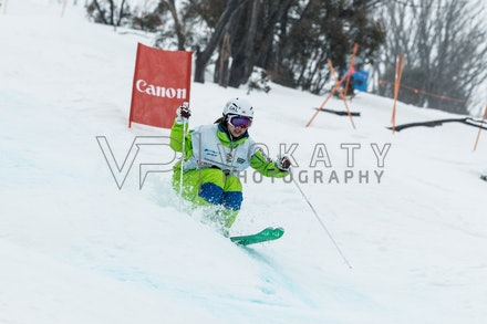 140819_Moguls_5929 - Athlete competing during day 1 of the Canon Australian Freestyle Mogul Championships at Perisher, NSW (Australia) on August 19 2014....