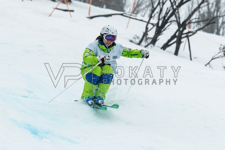 140819_Moguls_5933 - Athlete competing during day 1 of the Canon Australian Freestyle Mogul Championships at Perisher, NSW (Australia) on August 19 2014....