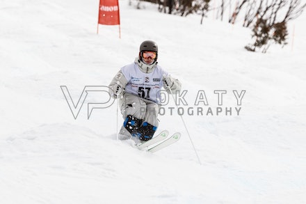140819_Moguls_6333 - Athlete competing during day 1 of the Canon Australian Freestyle Mogul Championships at Perisher, NSW (Australia) on August 19 2014....