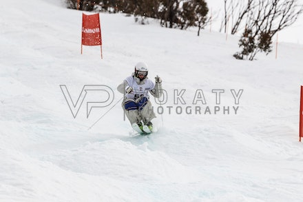 140819_Moguls_6439 - Athlete competing during day 1 of the Canon Australian Freestyle Mogul Championships at Perisher, NSW (Australia) on August 19 2014....
