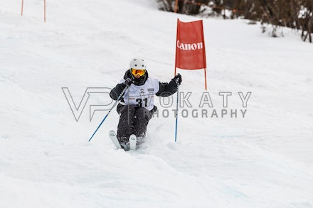140819_Moguls_6470 - Athlete competing during day 1 of the Canon Australian Freestyle Mogul Championships at Perisher, NSW (Australia) on August 19 2014....