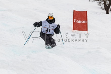 140819_Moguls_6480 - Athlete competing during day 1 of the Canon Australian Freestyle Mogul Championships at Perisher, NSW (Australia) on August 19 2014....