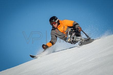 140923_apc_1398 - Australian paralympic ski team athletes training super G during APC speed camp at Perisher, NSW (Australia) on September 23 2014. Photo:...
