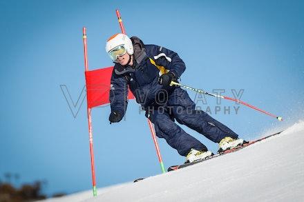 140923_apc_1423 - Australian paralympic ski team athletes training super G during APC speed camp at Perisher, NSW (Australia) on September 23 2014. Photo:...